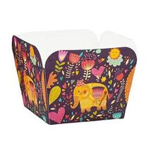 100 Pc Heat-resistant Cupcake Paper Baking Cup Square Muffin Cup Exotic Elephant