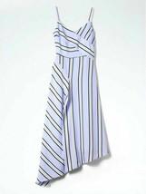 Banana Republic Spaghetti Strap Asymmetrical Striped Dress - 12P - $48.49