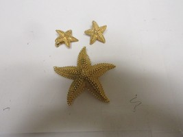 "Costume Jewelry ,Vintage , STAR Pin & Earrings ,  Pin 3"" X 3"", Earrings ... - $24.75"
