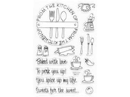 Stampendous From the Kitchen Clear Cling Stamp Set #SSC107