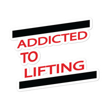 Addicted To Lift Sticker Motivation Gym Training Lift Weights Fitness - $4.46+
