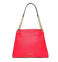 Michael Kors Jet Set Chain Large Pebbled Leather Shoulder Bag Red - $164.99