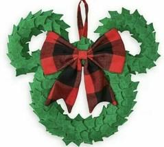 "NWT Disney Parks Mickey Icon Felt Holiday Wreath Christmas 16"" x 14"" - $34.64"