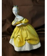 Royal Doulton England Figurine HN2315 THE LAST WALTZ 1965 Lady In Yellow... - $39.95