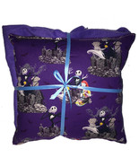Nightmare Before Christmas Pillow & Blanket Jack & Sally Pillow and Blan... - $19.99