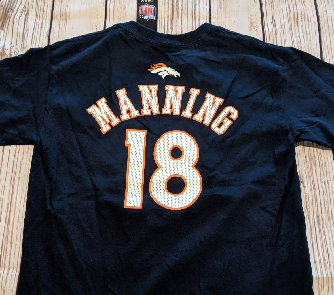 LZ NFL Team Apparel Boy's Medium 10/12 Denver Broncos T-Shirt Tee Shirt NEW R51