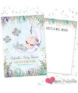 Mermaid baby shower guest book listing photo thumbtall