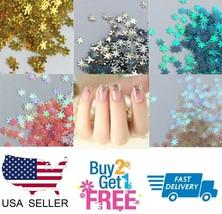SNOWFLAKE ❄️ Glitter Multi Colors Nail Holographic Glitter Art Acrylic Gel - $0.99+