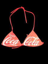 Coca-Cola Red Enjoy Coca-Cola Bikini Swim Top Size Small Lined - $10.40