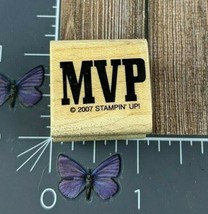 Stampin' Up! MVP Rubber Stamp 2007 Most Valuable Player Wood Mount #W127 - $3.47