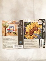 """Lot of 2 Needlepoint Kits Dimensions Sunflower, Owl 5""""x5"""" NEW SEALED - $23.35"""