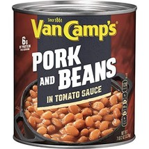 VAN CAMP'S Pork and Beans, 114 oz. Pack of 6 - $44.83