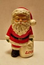 Vintage -8in Santa Claus -plaster type figure - $29.69