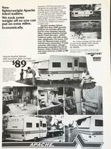 1979 Vesely Apache Travel Trailer Campers Print Ad We Took Some Weight Off - $11.29