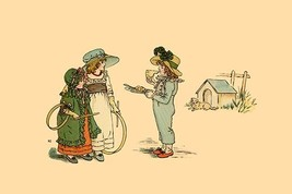 A Piece of Pie of A Game of Hoop? by Kate Greenaway - Art Print - $19.99+