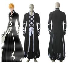 Bleach Ichigo Kurosaki Costume Cosplay Suit For Kimono Coat Cosplay - $89.99+