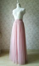 A-line Long Tulle Skirt Pink Long Tulle Skirt Wedding Tulle Skirt image 2