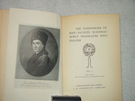 The Confession of Jean-Jacques Rousseau Newly Translated Into English Vol 1 - $980.00