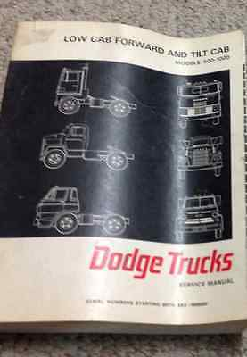 1967 Dodge Truck Low Cab Forward & Neigung Modelle 500 1000 Service Shop Manual