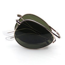 Folding Pocket Metal Aviator Sunglasses - $4.70