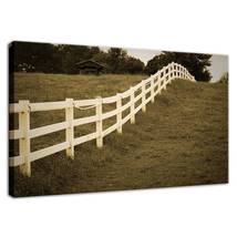 An item in the Art category: Aged Fences 2 Sepia Landscape Fine Art Canvas & Unframed Wall Art Prints