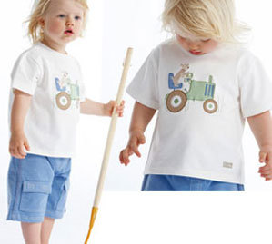 Boys Set 2T Le Top Boy's Puppy Farmer Tee & Short