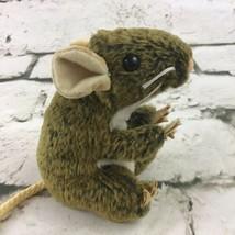 Folkmanis Mini Feild Mouse Plush Finger Puppet Realistic Natural Soft Animal Toy - $14.84