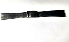 "Vintage T&C Town & Country Jura-Calf Black Buckle Watch Band 11/16"" 17.5... - $17.75"