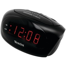 Westclox 70044A Super-Loud LED Electric Alarm Clock (Black) - $29.57