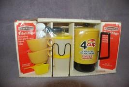 NIB EMPIRE Travl Mate 12VDC/120VAC 4 Cup Coffee Maker Cups Spoons Travel... - $39.95