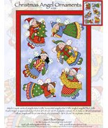 Christmas Angel Ornaments JE241 christmas cross stitch chart Joan Elliot... - $14.00