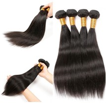 Brazilian Straight 100% Human Hair Weave Bundle 8-30 Inch Natural Color ... - $18.99+