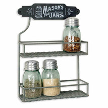 Country Spice Rack in distressed Tin - $34.00