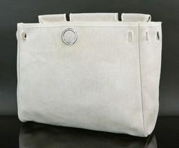 Authentic HERMES Her Bag Beige Canvas Alternate #26533B - $175.00