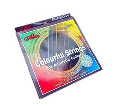 Colored Guitar Strings for Acoustic Guitar, Steel Core
