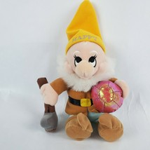 "Disney Store Snow White & 7 Dwarfs Happy 10"" Plush Dwarf Mining Pickaxe ... - $15.72"