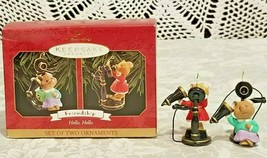 HALLMARK KEEPSAKE CHRISTMAS 2 ORNAMENTS FRIENDSHIP HELLO HELLO 1999 - $11.88