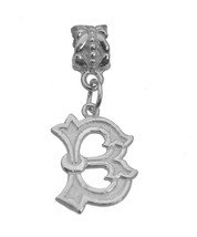 Sterling Silver 925 Letter B Initial Jewelry European Bead for Charm / Bracelet - $19.57