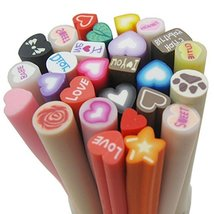Bluemoona 50 PCS - Mixed Love Fimo Polymer Clay Spacer strip - $5.55