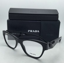 New PRADA Eyeglasses VPR 07R 1AB-1O1 51-18 Black Cat-Eye Frame w/ Black Stones