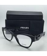 New PRADA Eyeglasses VPR 07R 1AB-1O1 51-18 Black Cat-Eye Frame w/ Black ... - $369.95