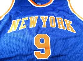 R.J BARRETT / NEW YORK KNICKS / AUTOGRAPHED N.Y. KNICKS BLUE CUSTOM JERSEY / COA image 2