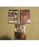 Lot of 3 Sony Playstation 2 PS2 Games Dynasty Warriors 2 Onimusha COMPLETE - $14.24