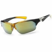 X Loop Designer Sport Half Frame Sunglasses For Men And Women Wrap Around Yellow - $6.99