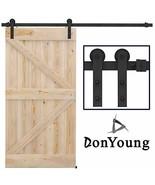 DonYoung 8ft Heavy Duty Sliding Barn Door Hardware Kit - I Shape Hanger ... - $79.02