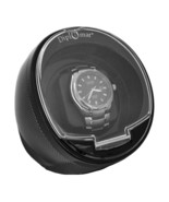 Carbon Fiber Black Watch Winder Pattern Single Automatic Economy Round - $39.95