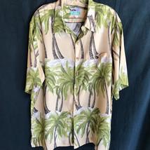 Reyn Spooner Hawaiian Shirt Aloha XL Palm Trees Beach - $47.49