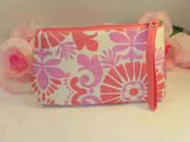 New Clinique Makeup Cosmetic Bag Case Purse Pink & Lavender Floral  Travel Home - $10.99