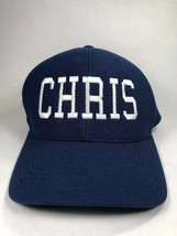 Personalized Embroidered Name - Chris - One Ten Flexfit Blue Baseball Ca... - $13.85