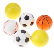 6Pcs/Set Diameter 6.3cm Ball Cat Toys Play Chewing Rattle Scratch Catch ... - $7.50